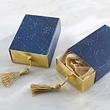 Constellation Slide Favor Boxes with Gold Foil and Tassel (Set of 24)