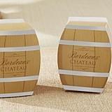 Kate Aspen Wine Barrel-Shaped Favor Boxes (Set of 24)