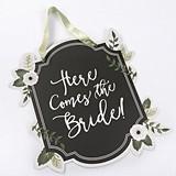 "Kate Aspen Romantic Garden ""Here Comes the Bride"" Sign"
