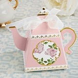 Kate Aspen Tea Time Whimsy Pink Teapot-Shaped Favor Boxes (Set of 24)