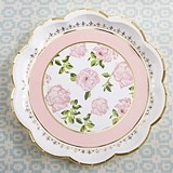 Kate Aspen 'Tea Time Whimsy' Pink Cardstock Paper Plates (Set of 8)