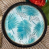 "Kate Aspen ""Tropical Chic"" Cardstock Paper Plates (Set of 8)"