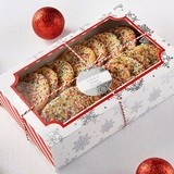 Kate Aspen Silver Snowflake-Motif Holidays Treat Boxes (Set of 12)