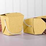Kate Aspen Gold Glitter Chinese Takeout Boxes (Set of 12)