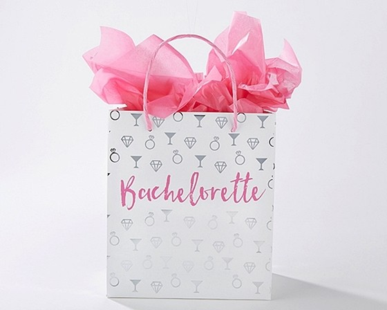 Kate Aspen Bachelorette Party Gift Bags With Pink Handles Set Of 12