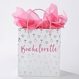 Kate Aspen Bachelorette Party Gift Bags with Pink Handles (Set of 12)