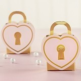 Kate Aspen Heart-Shaped Love Lock Favor Boxes (Set of 12)