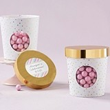 Kate Aspen Personalizable Gold Dot Ice Cream Favor Boxes (Set of 12)