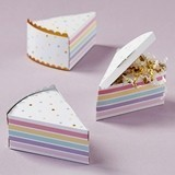 Kate Aspen Colorful Cake Slice-Shaped Favor Boxes (Set of 12)
