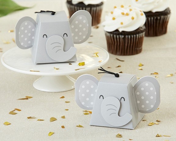 Kate Aspen Elephant with Trunk and Jumbo Ears Favor Boxes (Set of 12)