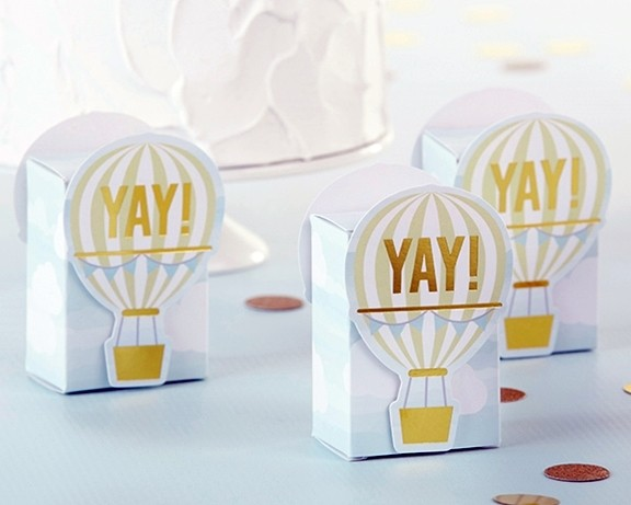 Kate Aspen Yay Hot Air Balloon Favor Boxes Set Of 12