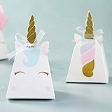Kate Aspen Gold-Horned Unicorn Favor Boxes (Set of 12)
