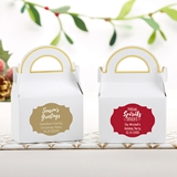 Kate Aspen Personalized Gable Favor Boxes - Holiday (Set of 12)