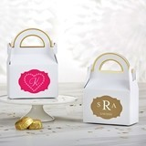 Kate Aspen Personalized Gable Favor Boxes - Monogram (Set of 12)