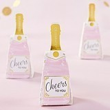 Kate Aspen Pink Champagne Bottle Favor Boxes (Set of 12)