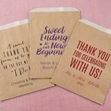 Kate Aspen Personalized Wedding Designs Kraft Goodie Bags (Set of 12)