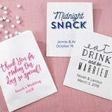 Kate Aspen Personalized Wedding Designs White Goodie Bags (Set of 12)