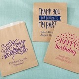 Kate Aspen Personalized Birthday Designs Kraft Goodie Bags (Set of 12)