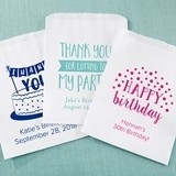 Kate Aspen Personalized Birthday Designs White Goodie Bags (Set of 12)