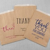 Kate Aspen Personalized Thank You Design Kraft Goodie Bags (Set of 12)