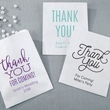 Kate Aspen Personalized Thank You Design White Goodie Bags (Set of 12)
