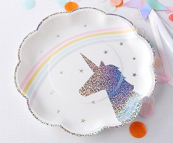 Kate Aspen Enchanted Unicorn Paper Plates (Set of 8)  sc 1 st  Party Favor Source & Kate Aspen Enchanted Unicorn Paper Plates (Set of 8) | Personalized ...