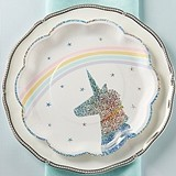 Kate Aspen Enchanted Unicorn Paper Plates (Set of 8)