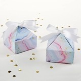 Kate Aspen Colorful Marbleized Pyramid Favor Boxes (Set of 12)