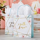 Kate Aspen Geometric Floral Motif Gift Bags (Set of 12)
