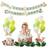 Kate Aspen Woodland Baby Decorations and Shower Signs Kit (41 Pieces)