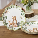 Kate Aspen Woodland Baby 9 in. Premium Paper Plates (Set of 16)