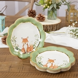Kate Aspen Woodland Baby 7 in. Premium Paper Plates (Set of 16)