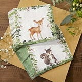 Kate Aspen Woodland Baby Two-Ply Paper Napkins (Set of 30)