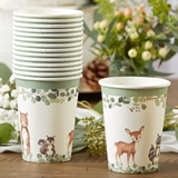 Kate Aspen Woodland Baby 8 oz. Paper Cups (Set of 16)