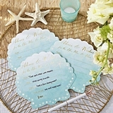 Kate Aspen Seashell-Shape Beach Party Wedding Advice Cards (Set of 50)