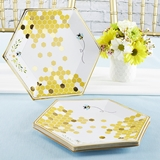 Kate Aspen Sweet As Can Bee 9 in. Premium Paper Plates (Set of 16)