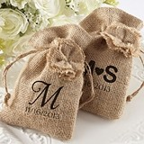 Kate Aspen Pastoral Personalized Burlap Favor Bags (Set of 12)