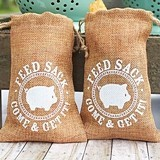 Rustic Burlap 'Come and Get It' Feed-Sack Favor Bags (Set of 12)