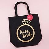 Kate Aspen Personalizable Gold Foil 'Team Bride' Canvas Tote Bag
