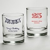 Kate Aspen Personalized Shot Glass/Votive Holder (Birthday Designs)