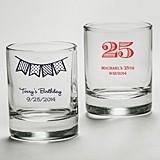Kate Aspen Personalized Shot Glass/Votive Holder (Birthday Designs)