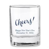 Kate Aspen Cheers! Script Design Personalized Shot Glass/Votive Holder