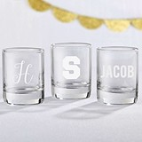 Kate Aspen Personalized Shot Glass Engraved with Name or Initial(s)