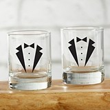 Kate Aspen Tuxedo Design Shot Glasses (Set of 4)