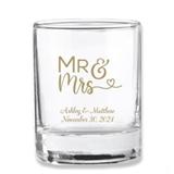 Kate Aspen Mr & Mrs Heart Design Personalized Shot Glass/Votive Holder