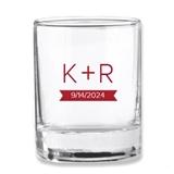 Kate Aspen Monogram Plus Design Personalized Shot Glass/Votive Holder