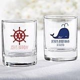 Kate Aspen Personalized Nautical Birthday Shot Glass/Votive Holder