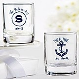 Personalized Nautical Bridal Shower Shot Glass/Votive Holder