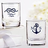 Kate Aspen Personalized Nautical Wedding Shot Glass/Votive Holder