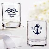 Kate Aspen Personalized Nautical Wedding Shot Glass/Votive Holder